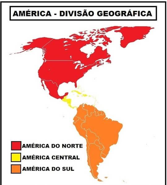 mapa regiões América