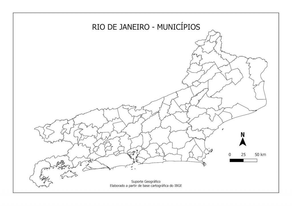 mapa Rio de Janeiro colorir