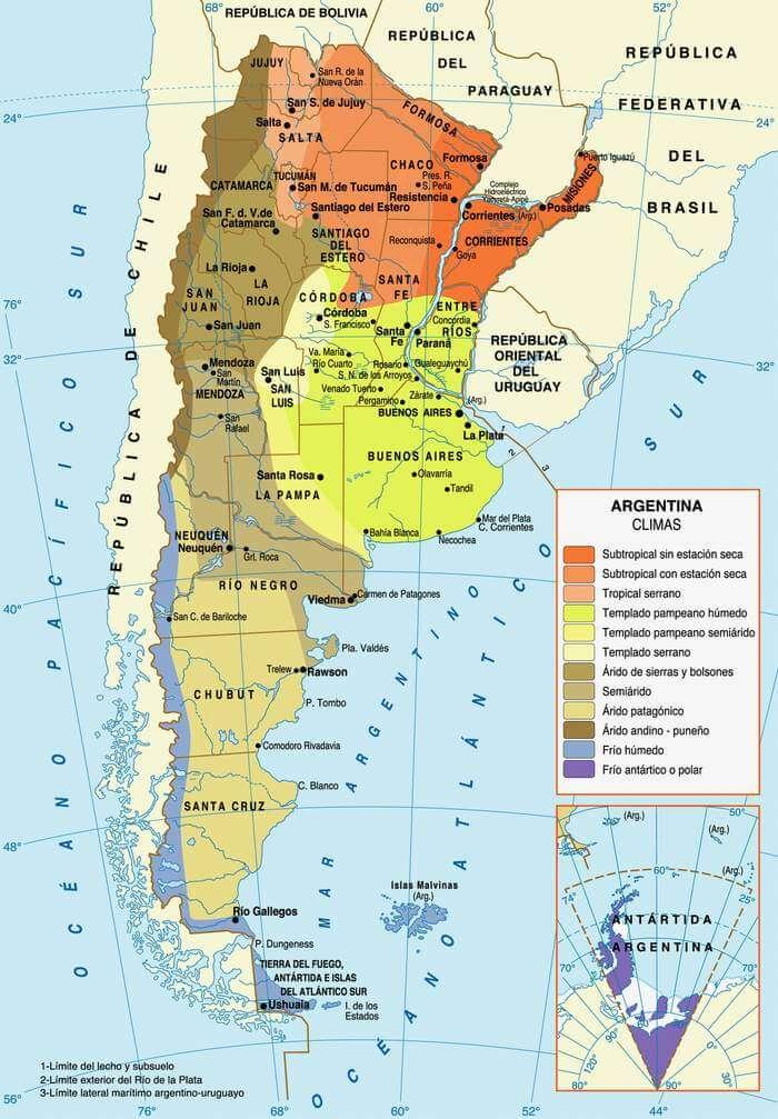 mapa clima argentina