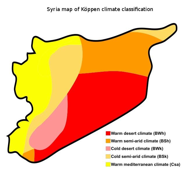 mapa clima Síria