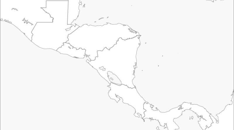 mapa colorir América Central