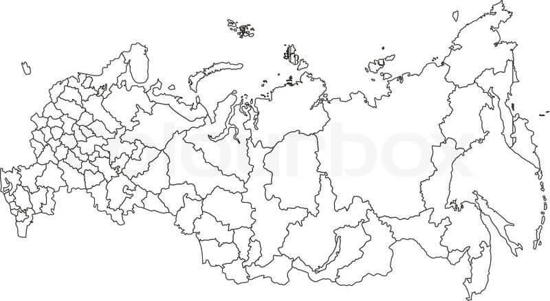 mapa colorir Russia