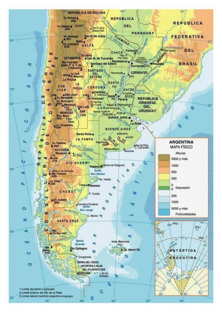 mapa físico argentina