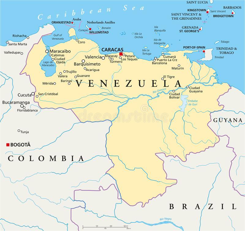 mapa político Venezuela