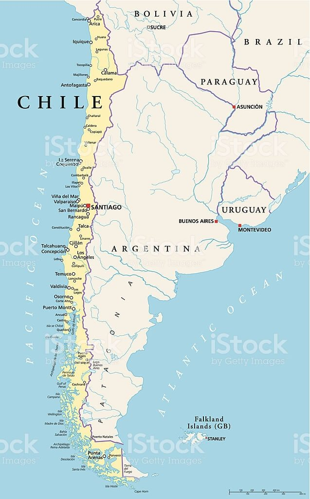 mapa político Chile