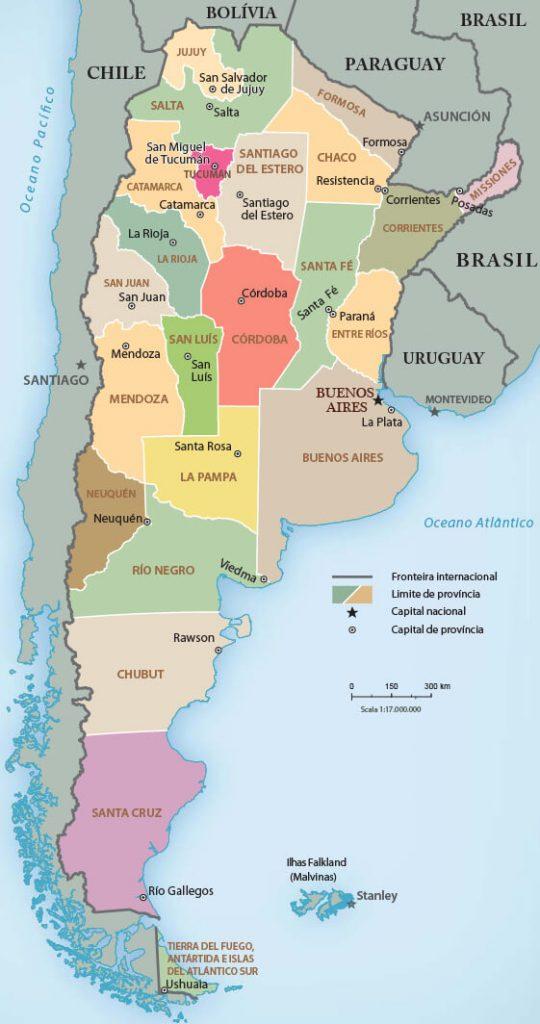 mapa regiões argentina