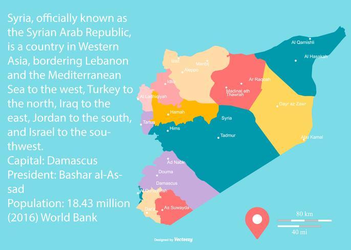 mapa regiões Síria