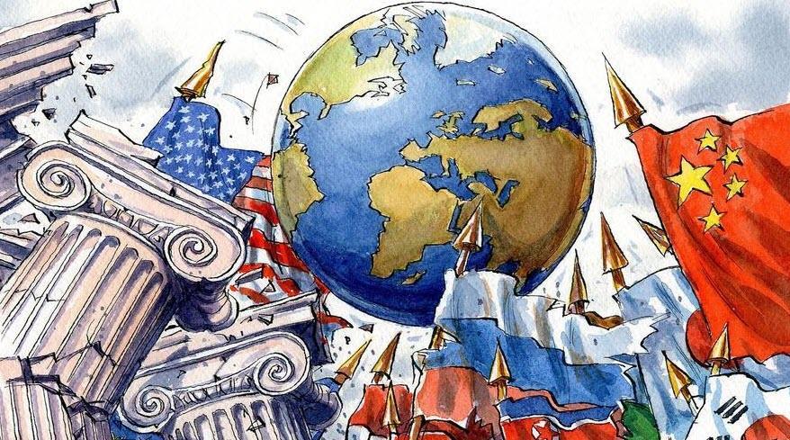 ilustração nova ordem mundial
