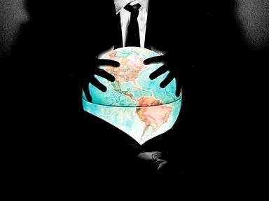 mãos ao redor de um globo terrestre